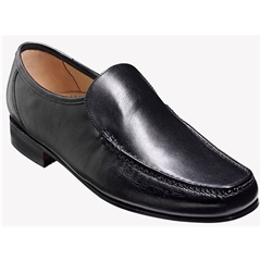 Barker Javron Shoes - Moccasin - Black Calf
