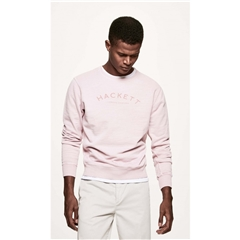 Hackett Logo Print Cotton Sweater - Washed Pink