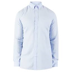 Hackett Cotton Oxford Shirt - Baby Blue