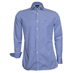 Hackett Painted Bengal Stripe Shirt - Blue - Size 3XL Only