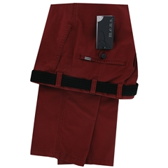 m.e.n.s. Spring Cotton Chino Trouser - Deep Red