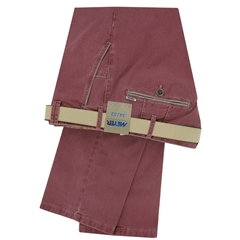 Meyer Trouser Cotton - Washed Red - New York 5001 53