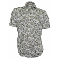 Fynch Hatton Half Sleeve Shirt - Flower Print - Large Only