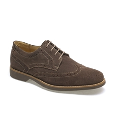 Anatomic & Co Derby Brogue Shoes - Tucano - Truffle Brown Suede