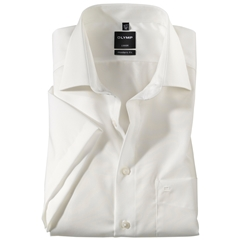Olymp Modern Fit Half Sleeved Shirt - Cream