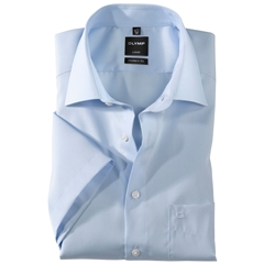 Olymp Modern Fit Half Sleeved Shirt - Sky Blue