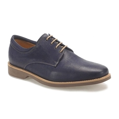 Anatomic & Co Derby Shoes - Delta - Navy Blue Suede