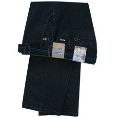 Meyer Summer Denim Trouser - Dark Blue - Roma 4143 18