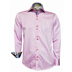 Claudio Lugli Pink Shirt with Motor Racing Trim - Size Large Only
