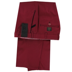 Luxury Cotton Trousers  - Cardinal Red