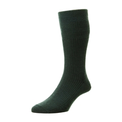 HJ Hall Men's Wool Softop Socks - Green