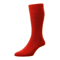 HJ Hall Men's Wool Softop Socks - Red
