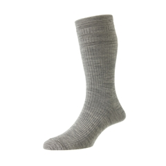 HJ Hall Men's Wool Softop Socks - Silver Grey