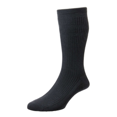 HJ Hall Men's Cotton Softop Socks - Charcoal