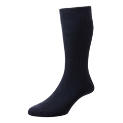 HJ Hall Men's Cotton Softop Socks - Navy