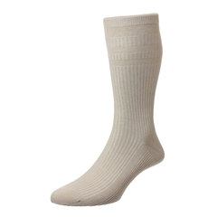 HJ Hall Men's Cotton Softop Socks - Oatmeal