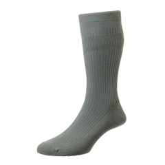 HJ Hall Men's Cotton Softop Socks - Olive