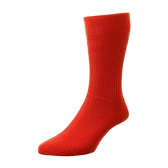 HJ Hall Men's Cotton Softop Socks - Red