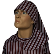 Wee Willie Winkie Hat - Neat Wine Stripe