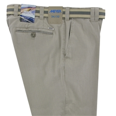 "Meyer Textured Cotton Shorts - Washed Beige - 40"" Waist Only"