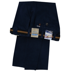 Meyer Cotton Trouser - Navy  - Oslo 5552 17