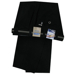 Meyer Cotton Trouser - Black  - Oslo 5552 09
