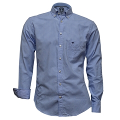Fynch Hatton Shirt - Blue Check - 2XL Only