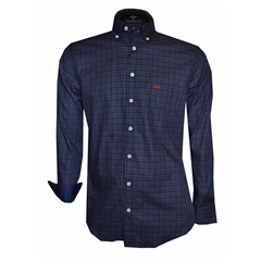 Autumn 2018 Fynch Hatton Shirt - Navy Fond Check