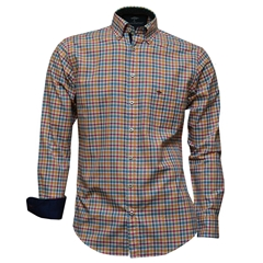 Fynch Hatton Shirt - Multicolour Check - Size Medium Only