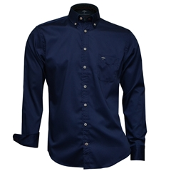 Autumn 2018 Fynch Hatton Shirt - Navy - Size Large Only