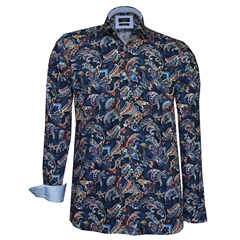 Autumn 2018 Giordano Shirt -  Multi Floral - Blue