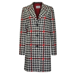 Betty Barclay Houndstooth Coat - Multi coloured