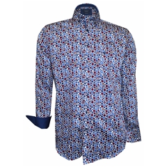 Autumn 2018 Giordano Blue & Red Spots Shirt