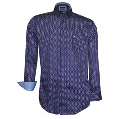 Autumn 2018 Giordano Navy Neat Design Shirt