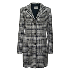 Betty Barclay Coat - Blue/Grey Check