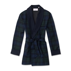 Derek Rose Pure Wool Tartan Smoking Jacket Gown
