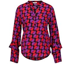 Gerry Weber Blouse With Flounce Details - Red/Purple