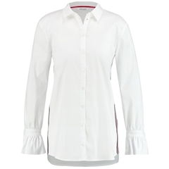 Gerry Weber Blouse with Tuxedo Stripes - White