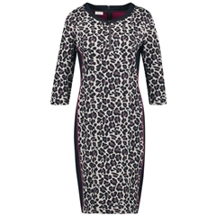 Gerry Weber Leopard Print Dress - Putty/Indigo