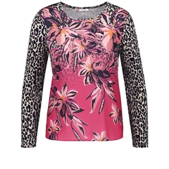 Gerry Weber Mixed Pattern Top - Azalea