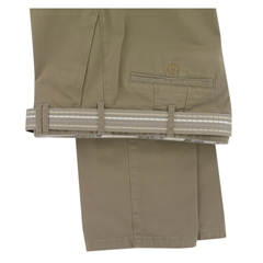 Meyer Trousers Cotton Sateen Chino - Sand - Style Madrid 7501 32