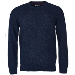 Autumn 2018 Barbour Men's Tisbury Crew Neck Sweater - Navy