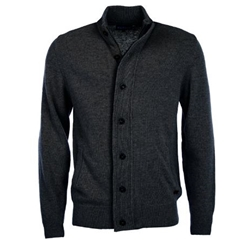 Autumn 2018 Barbour Men's Patch Zip Thru Jumper - Charcoal Marl