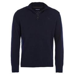Autumn 2018 Barbour Men's Essential Lambswool Half Zip - Navy