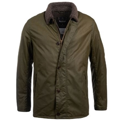Autumn 2018 Barbour International Men's Steve McQueen Havasu Waxed Jacket - Olive