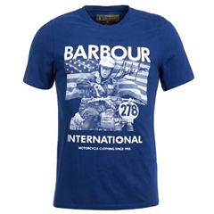 Autumn 2018 Barbour Men's Steve McQueen Paddock Tee - Blue