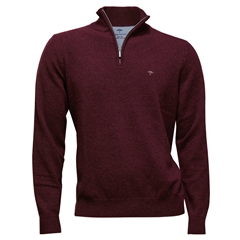 Autumn 2018 Fynch Hatton Wool & Cashmere Zip Neck - Oxblood