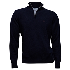 Autumn 2018 Fynch Hatton Wool & Cashmere Zip Neck - Navy