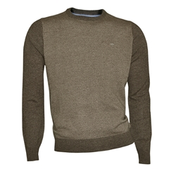 Fynch Hatton Wool & Cashmere Crew Neck - Earth