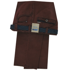 Meyer Jeans-Style Cotton Trousers - Rust - Style Diego 5532 55